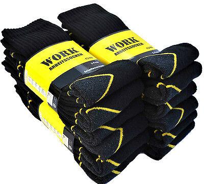 9 Paar WORK Arbeitssocken Socken Strümpfe 43 44 45 46 schwarz Herrensocken