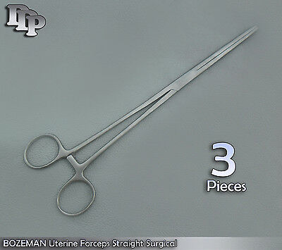3-bozeman Uterine Forcep Obgyn Surgical Instruments 10 Straight
