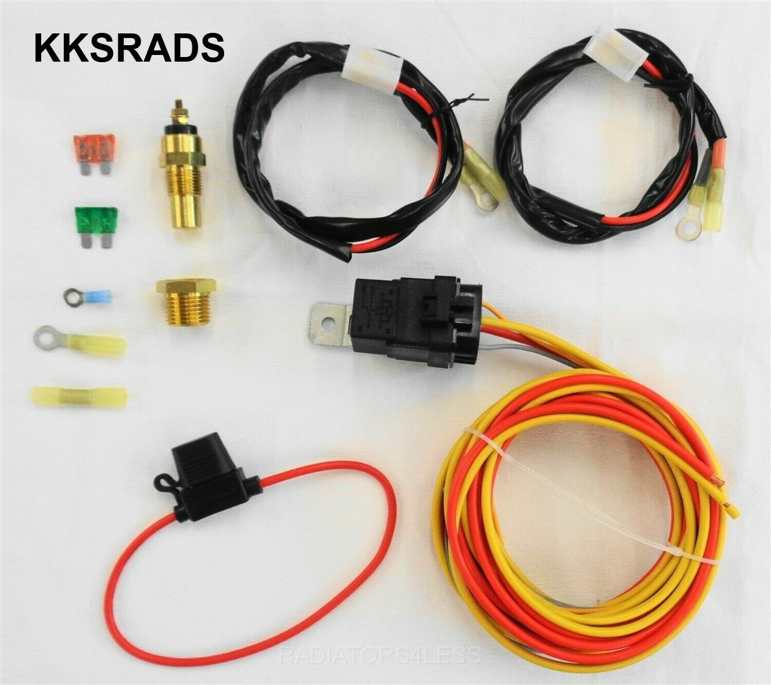 Dual Electric Cooling Fan Wiring Install Kit 185