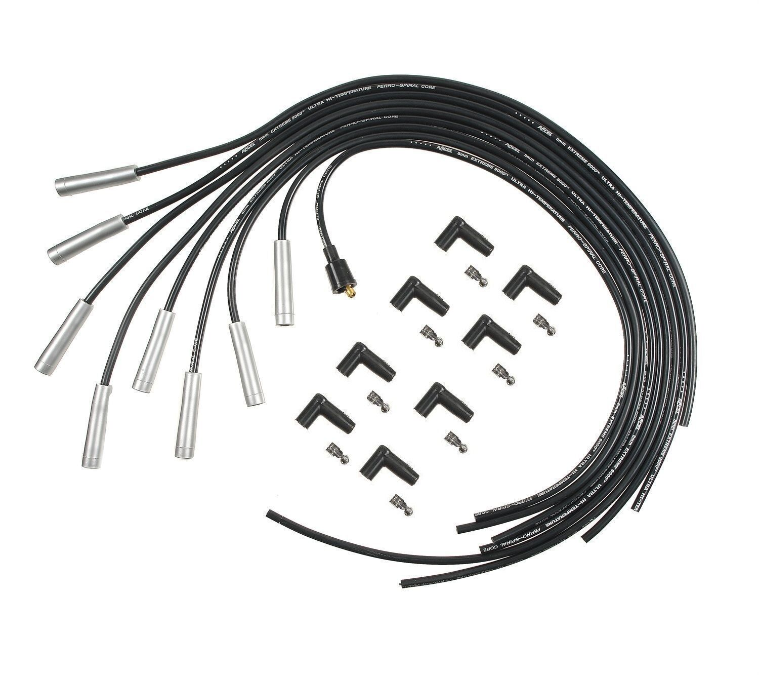 accel 9000 extreme heat 8mm spark plug wires universal big