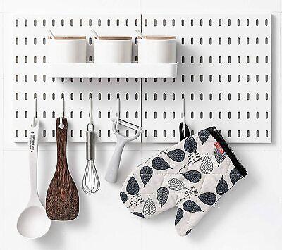Pegboard Combination Kit Shelf Hooks No Punching Garage Kitchen Bathroom Crafts