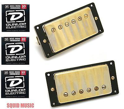 Seymour Duncan Antiquity Neck - Seymour Duncan Antiquity Humbucker Set Aged Gold Cover ( 3 FREE STRING SETS )