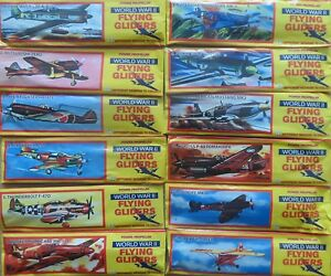 12 X FOAM GLIDER PLANES TOY PLANE BIRTHDAY PARTY BAG FILLERS WORLD WAR II DESIGN