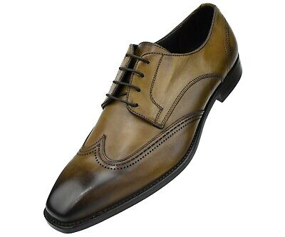 a609d64237509 Details about Asher Green Genuine Italian Leather Men's Dress Shoes w/  Classic Wing Tip