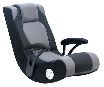 Gaming Chair Rocker leather office Seat computer Video speakers Video Black