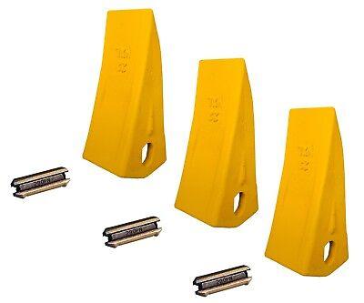3 Backhoe Excavator Skid Bucket Heavy Duty Long Teeth W Pins - 230hxl 230pn