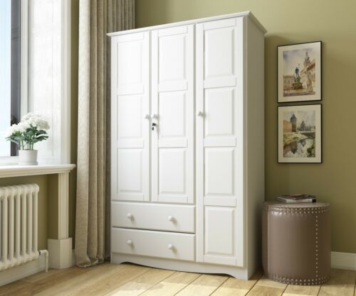100% Solid Wood Grand Wardrobe/Armoire/Closet by Palace Imports, 5 Colors