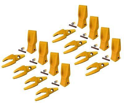 8 Cat Style Backhoe Shanks 34 Lip Abrasion Teeth 4t-2203 119-3205 W Pins