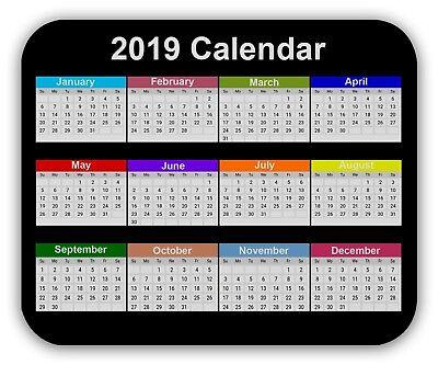 2019 Calendar Mouse Pad Anti-Slip Desktop Mouse Pad Gaming Mouse pad