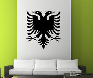 Wandtattoo albanischer Adler Albanien, Eagle Albania shqiponjë Aufkleber 1M008_1