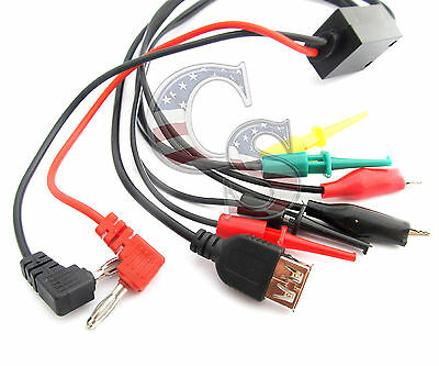 Us Ship 7 In 1 Multimeter Test Cable 4mm Banana Plug To Cliphookusb Female
