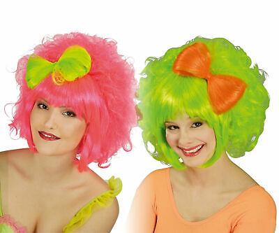 neon pink o neon grün Hippie Bonbon Fantasy Karneval Fasching (Neon-grüne Perücken)