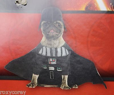 """Disney Star Wars Darth Vader Dog Costume Size XSmall 12"""" Chest 7"""" Neck to Tail"""