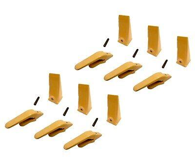 6 Mini Excavator Weld-on Adapters Teeth Pin Combo 238-3204 34 238-3202 Sp