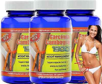3X Garcinia Cambogia Extract 60  Hca Weight Loss Diet Pills Fat Burner Natural