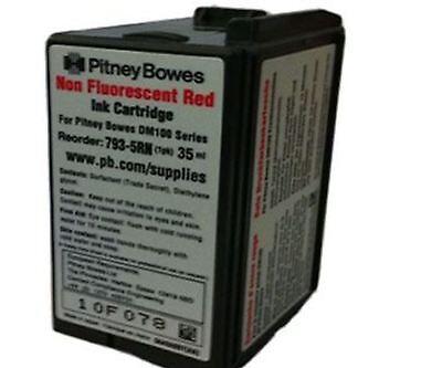 Original Oem Pitney Bowes Dm100i Red Franking Machine Ink Cartridge 793-5rn