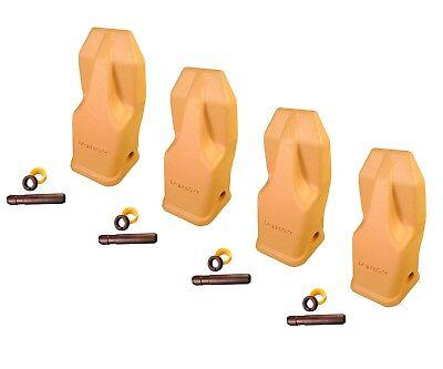 4 - Heavy Duty Abrasion Loader Bucket Teeth W Pins - J250hdal Fits Cat J250