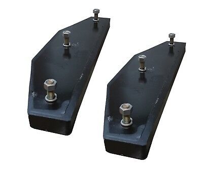 2 - John Deere 310 410 510 Backhoe Stabilizer Pad - 3 Bolt - At195669