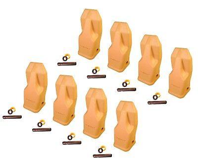 8 - Heavy Duty Abrasion Loader Bucket Teeth W Pins - J250hdal Fits Cat J250
