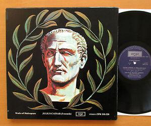 Shakespeare Julius Caesar George Rylands Ian Holm 3xLP ARGO ZPR 218-220 Stereo