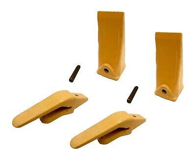 2 Mini Excavator Weld-on Adapters Teeth Pins Combo 238-3204 34 238-3202 Lp