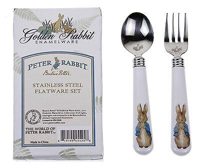 Golden Rabbit Beatrix Potter Peter Rabbit Toddler Fork & Spoon Set Baby -