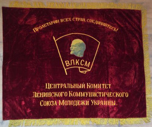 100% ORIGINAL! Soviet Flag Military Unit Lenin USSR
