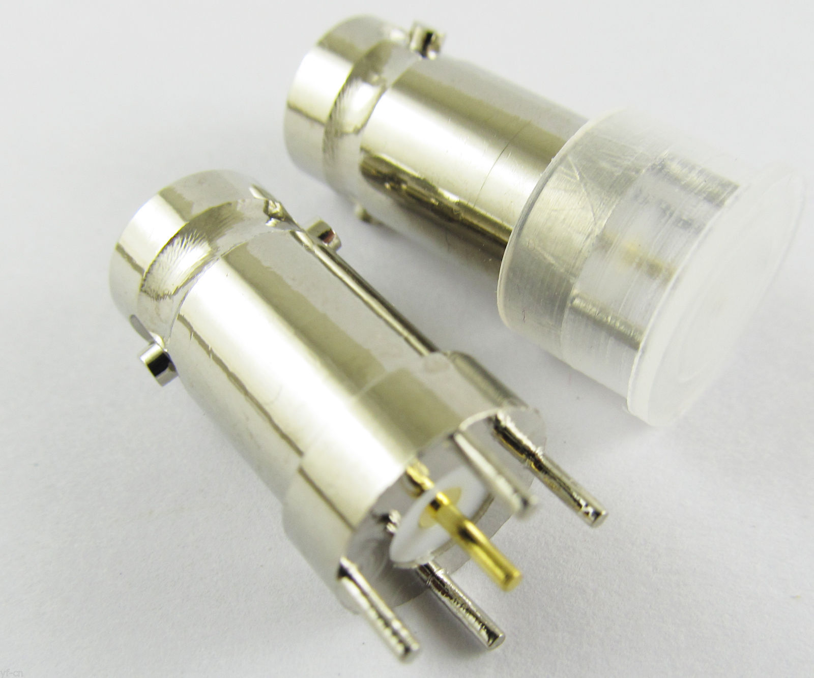 50x Copper Straight BNC Female Jack Center Solder PCB Mount RF Coaxial Connector