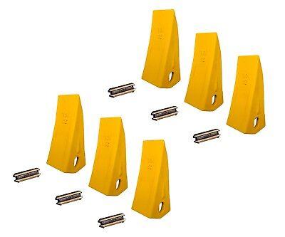 6 Backhoe Excavator Skid Bucket Heavy Duty Long Teeth W Pins - 230hxl 230pn