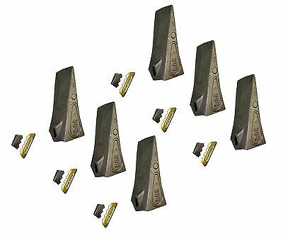 6 - Esco Style Conical Dirt Teeth - 30 Series - W Pin Lock - 30s T30s