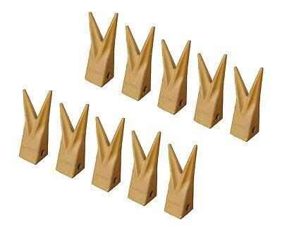10 Backhoe Bucket Cat Style Twin Tiger Teeth - 1u-3202wtl