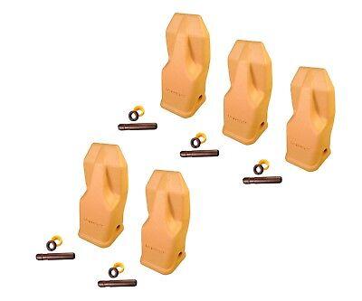 5 - Heavy Duty Abrasion Loader Bucket Teeth W Pins - J250hdal Fits Cat J250