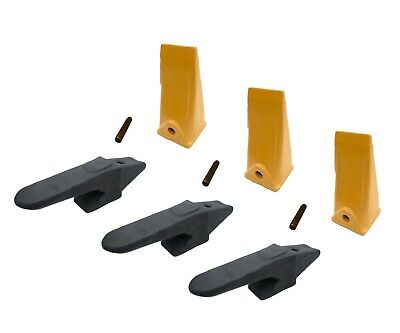3 Mini Excavator Weld-on Adapters Teeth Pins Combo 238-3204 Bl 238-3202 Sp