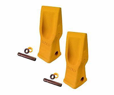 2 Cat Style Excavator Backhoe Skid Bucket H.d. Abrasion Bucket Teeth- 4t-2203