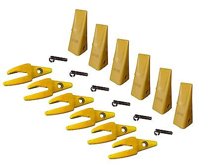 6 - Cat Style J200 Backhoe Bucket Shanks 1 Lip Dirt Teeth - 1u-3202 119-3204