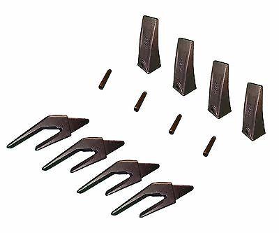 4 Mini Ex Backhoe 1 Bucket Lip Weld On Shanks Teeth Pins- 550x156 X156l