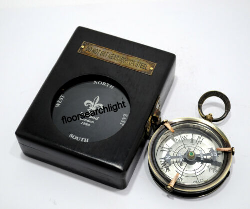 DOLLOND LONDON 1920 Compass With Wooden Box Royal Navy Compass Beautiful Gift