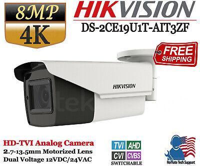 Hikvision 8MP 4K Turbo HD Bullet Camera Varifocal Lens Dual Voltage IP67 IR 80m