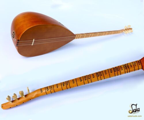 TURKISH QUALITY LONG NECK MULBERRY  BAGLAMA SAZ FOR SALE ASL-112N