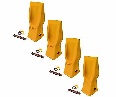 4 Cat Style Excavator Backhoe Skid Bucket H.d. Abrasion Bucket Teeth- 4t-2203