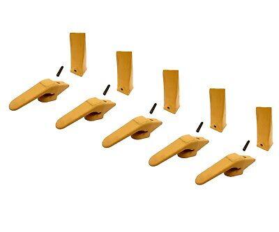 5 Mini Excavator Weld-on Adapters Teeth Pin Combo 238-3204 58 238-3202 Hdl