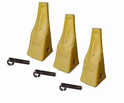 3 Cat Style J200 Small Dozer Ripper Teeth With Pins Retainers - 1u-3209