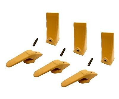 3 Mini Excavator Weld-on Adapters Teeth Pins Combo 238-3204 58 238-3202 Lp
