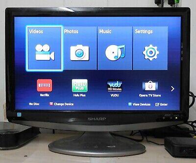 """19"""" Sharp LC19SB15U 720p Widescreen LCD HDTV - 16:9 400:1 1 HDMI ATSC/NTSC Tuner"""