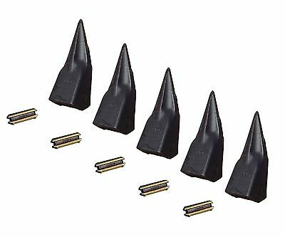 5 Backhoe Excavator Tiger Rock Bucket Teeth W Pins - 230tl Tt230l T23p