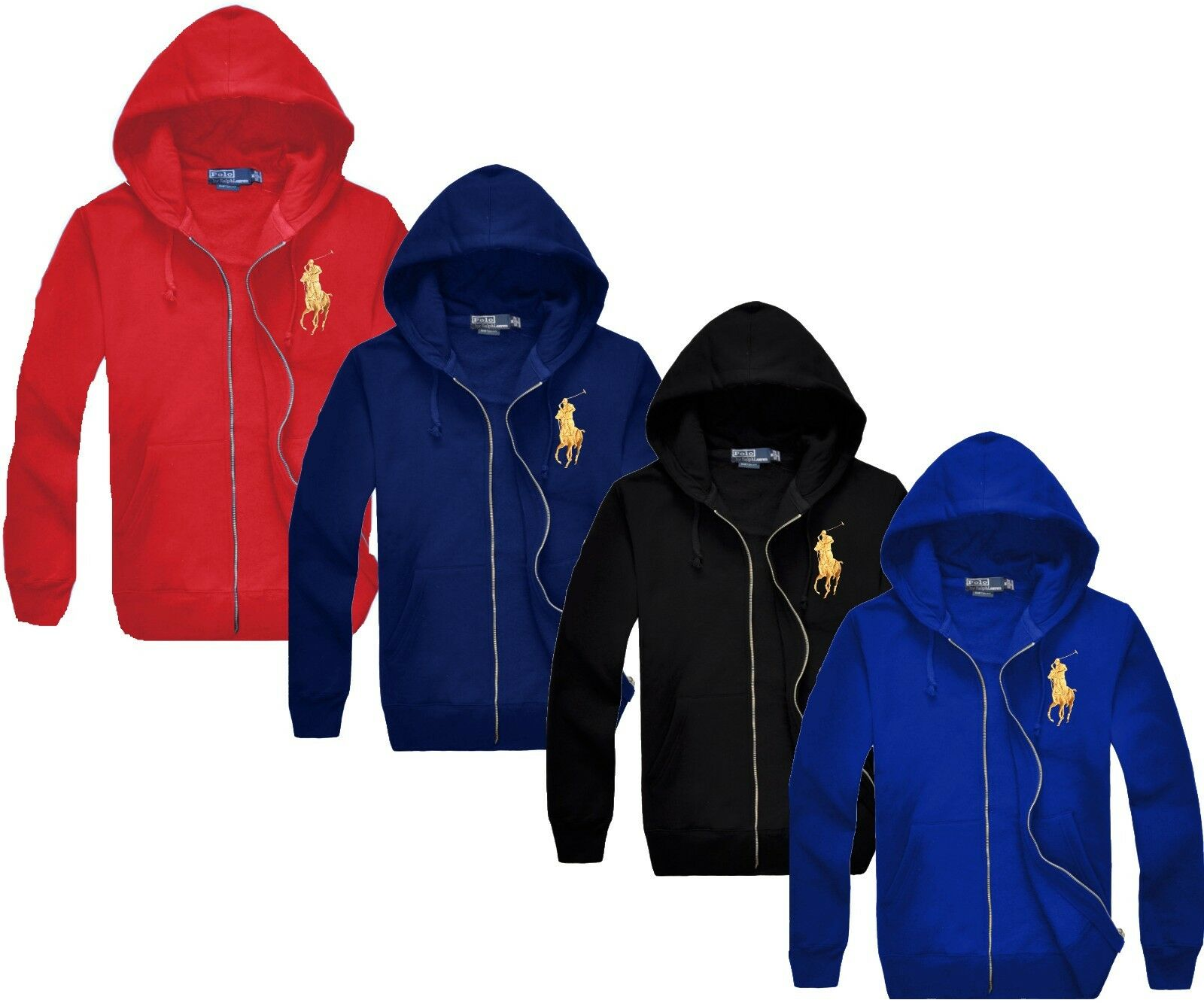 *NWT - POLO RALPH LAUREN Men's BIG PONY Full Zip Fleece Hood