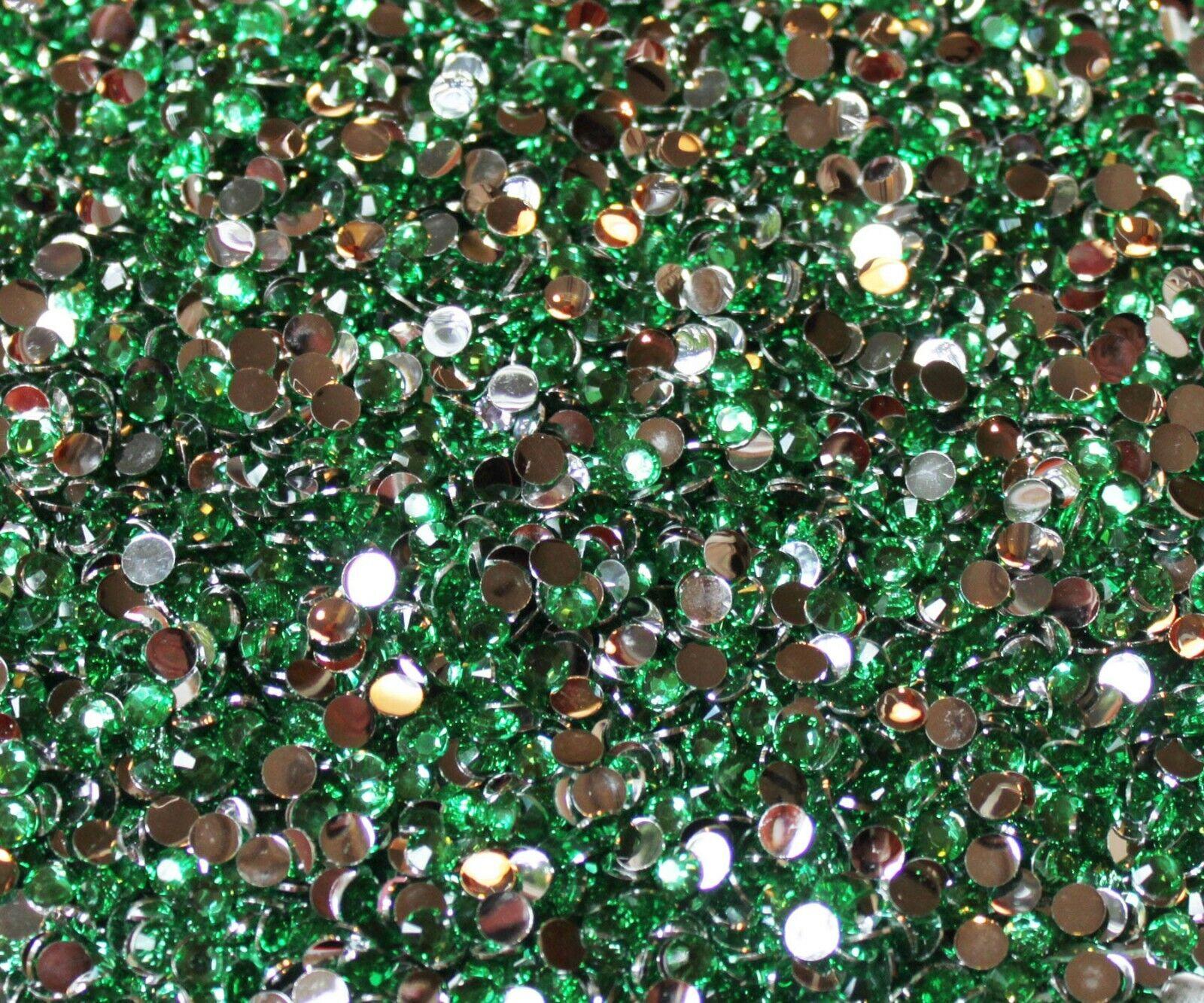 1000 Crystal Flat Back Resin Rhinestones Gems 60 colors, 2mm, 3mm, 4mm, 5mm, 6.5 PEACOCK GREEN