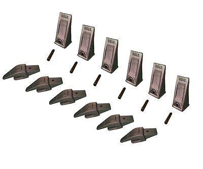 6 Ex Backhoe Skid Bucket Weld-on Shanksteeth Pins 34 Lip- 552x156 X156