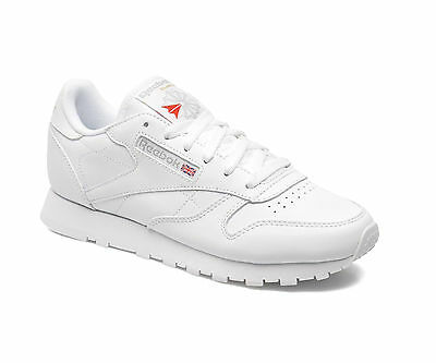 REEBOK CLASSIC LEATHER JUNIOR - WHITE - 50151 - JUNIOR/WOMENS TRAINERS - NEW