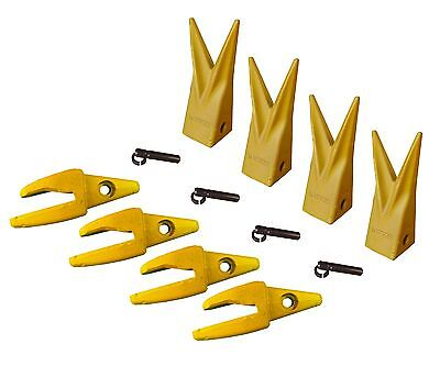 4 Cat J200 Style Backhoe Bucket Shank 34 Lip Rock Tooth 1u-3202wtl 119-3205
